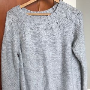 grey sweater from AE